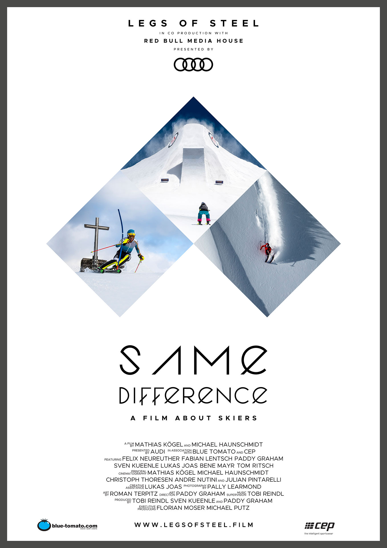 Cinema Poster for the full lentgh documentary Same Difference featuring Felix Neureuther, Fabian Lentsch and more